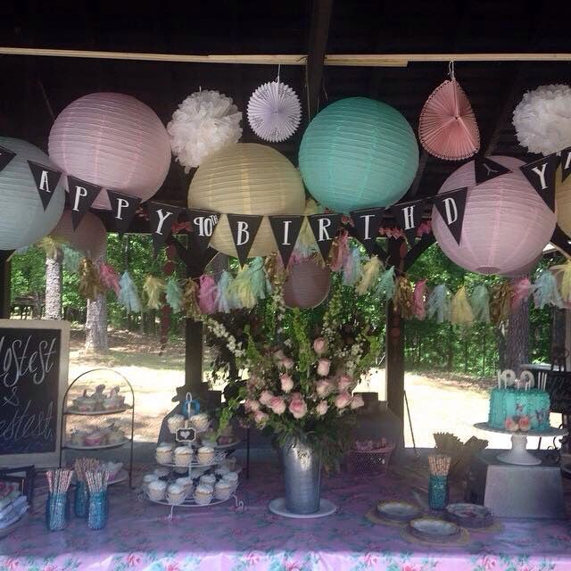 Outdoor / Pavilion / Birthday Decorations!!
