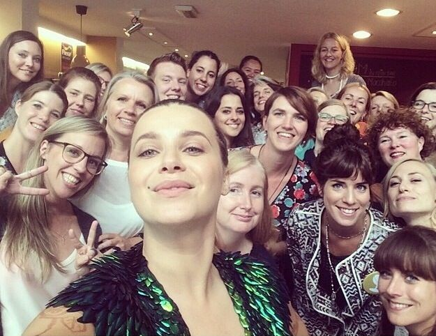 Victoria Koblenko took this selfie at the flexa / meet the blogger event today in Amsterdam