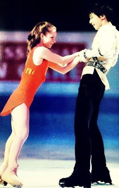 Yulia Lipnitskaya and Yuzuru Hanyu | Tumblr