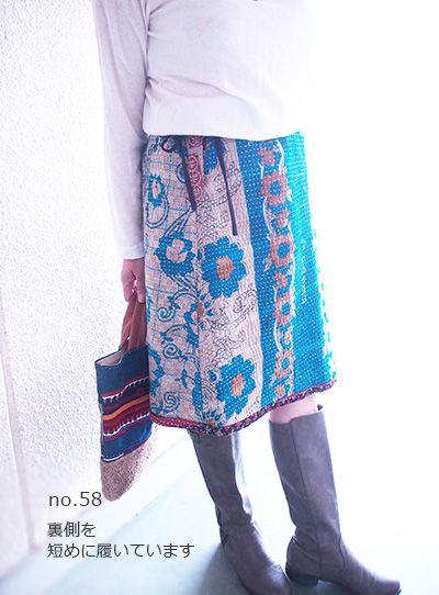 ラリーキルトのAラインスカート #khanta #skirt #vintage