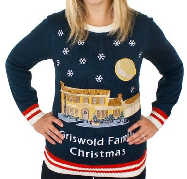 National Lampoons Griswold Family Christmas sweater! Even Lights up!