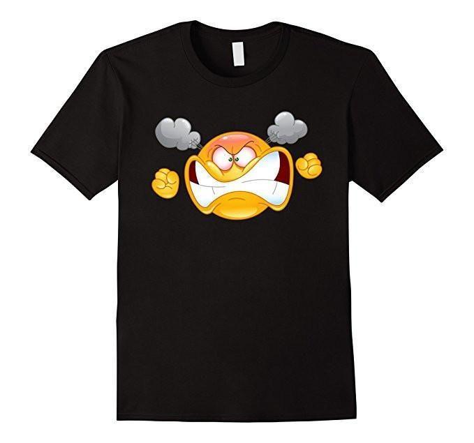 Emoji Furious Angry Emoticon Emoji Tee T-Shirt