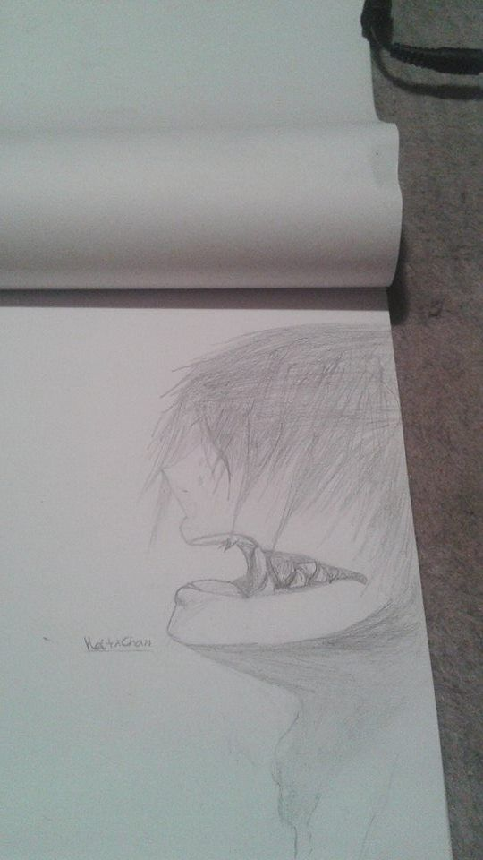 I saw it in a picture so I thought about drawing it  :p I think this looks fine too xD