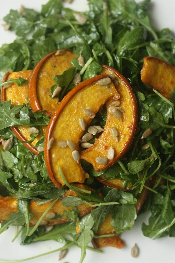 Roasted Pumpkin and Arugula Salad