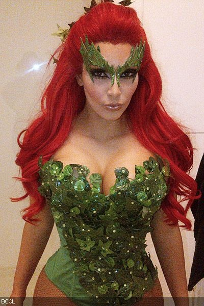 Kim Kardashian shows off her 'Poisonous' Halloween costume on her Twitter account