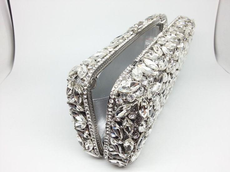 Caja de regalo paquete de noche de las para mujer cristal de plata bolsas de damas de honor Wedding Banquet bolsos bolsa embragues bolso de fiesta mujeres del bolso del Metal en Bolsos de Mano de Equipaje y bolsas en AliExpress.com | Alibaba Group