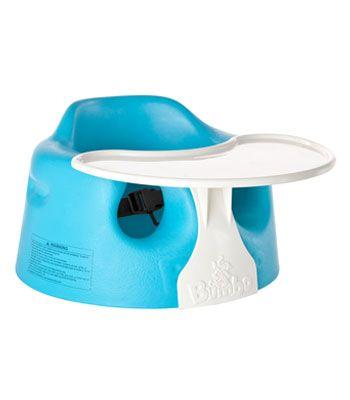 Bumbo Blue Floor Seat & Play Tray Combo
