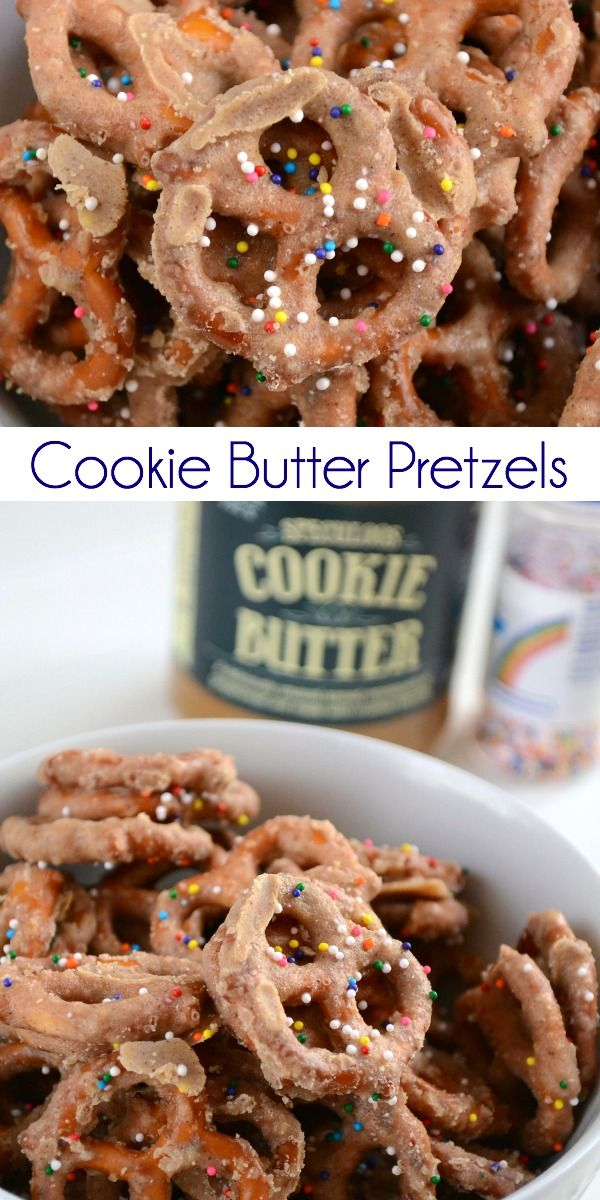 Cookie Butter Pretzels - a sweet and salty snack that's perfect for parties!