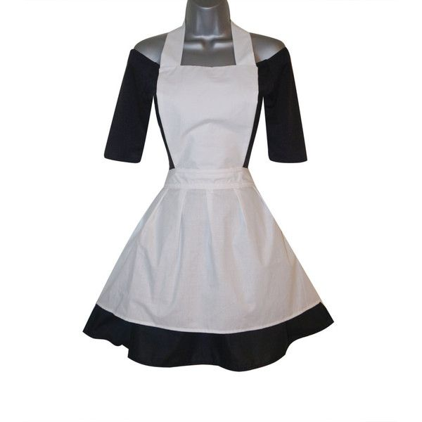 Adult Gothic Alice in Wonderland Black Dress Apron Costume (UK 10) (US... ($53) ❤ liked on Polyvore featuring costumes, womens halloween costumes, alice costume, adult costumes, ladies halloween costumes and alice in wonderland halloween costume