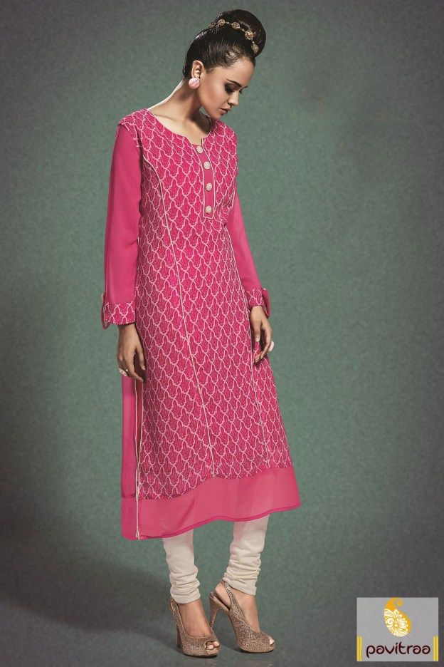 #Pink #Georgette #Casual Wear Kurti Online in India    #kurti, #kurtis, #kurtionline, #womentunics, #ladiestunices, #partywear, #fancy, #latest, #designer, #ladieskurtis, #kurtas, #newcollection, #trendy, #westernkurti, #stylishkurti, #embroiderykurti, #anarkalistyle More Product : http://www.pavitraa.in/catalogs/georgette-long-kurtis-online/  Any Query : Call / WhatsApp : +91-76982-34040 E-mail: info@pavitraa.in