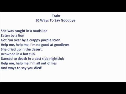 how to say goodbye sarcastically