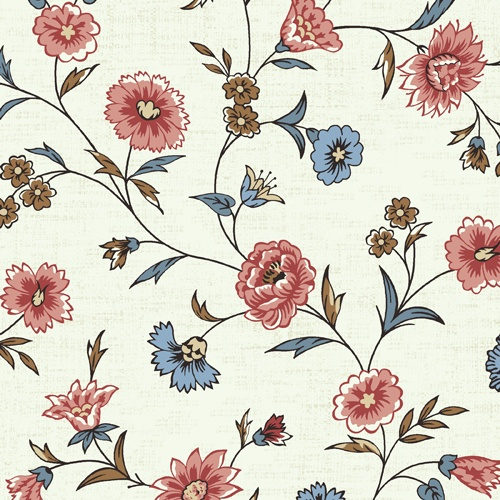 Looking for curtain material for the living room, some kind of 18th century pattern. This is Winterthur John Hewson 5623-M by Andover Fabrics.