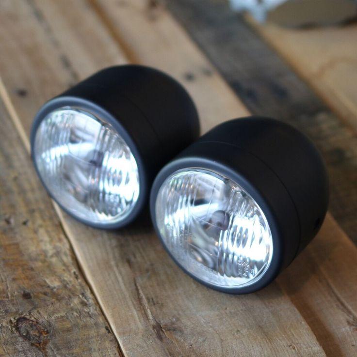 "Dual Beam 3.5"" Black Headlights"