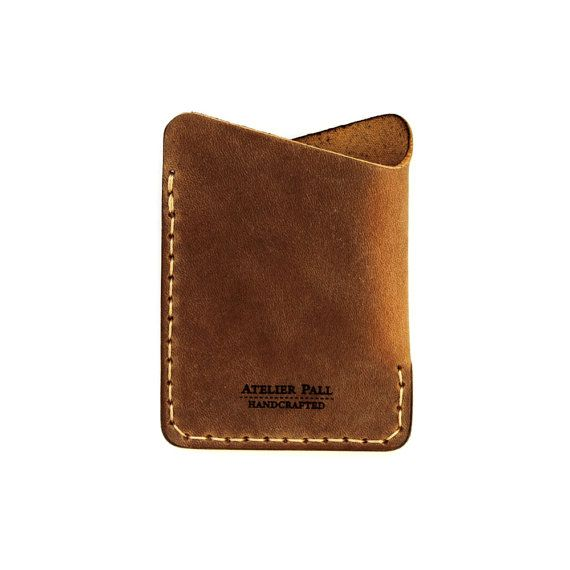 Minimalist Slim Leather Wallet with Card Holder by AtelierPall, $29.99