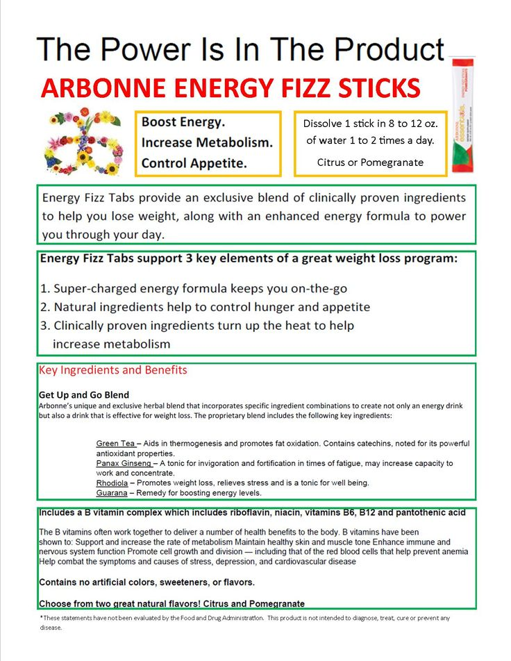 The Power of Arbonne Energy Fizz Stick - boost metabolism and energy. safe for kids. more electrolytes than sports drinks without the added sugar and colors!