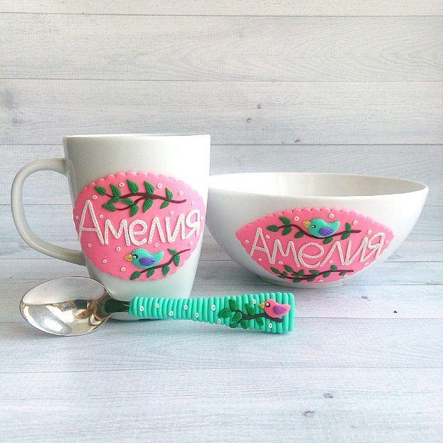 Набор на заказ для @annasharif  ________________________ Все ложечки здесь ➡ #lerasandrovna_crafts #spoon #kitchen #cucina #kitchenwear #handmade #polymerclay #worldbestideas #icecream #cake #cupcakes #вкусныеложечки #ложечки #праздник #дети #торт #подарки #свадьба #идеи #мороженое #ручнаяработа #Казань #рукоделие #творчество #полимернаяглина #фигурки #лепнина #кружка #тарелка #cups_are_love