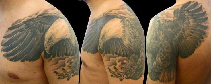 cop bald eagle tattoo