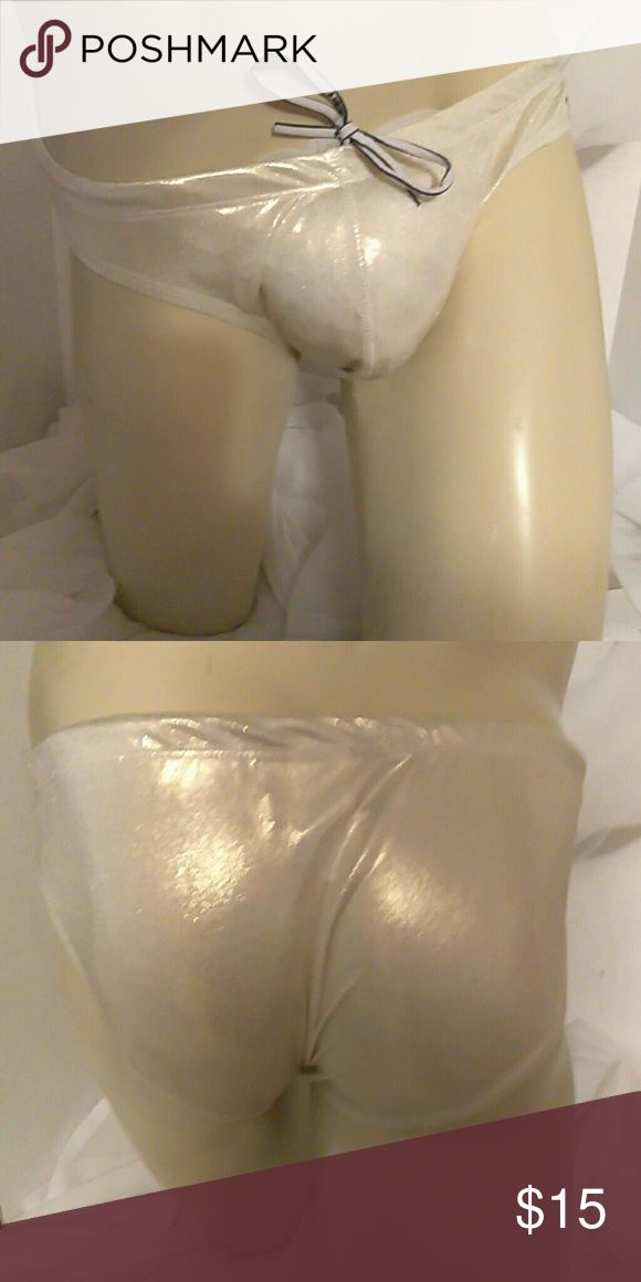 Andrew Christian This is a metallic gold swim suit that can be worn as undies as well size Lg 90% polyamide 10% spandex Andrew Christian Underwear & Socks Briefs