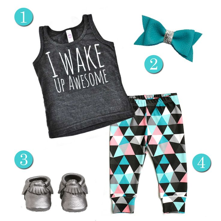 Super comfy but fun outfit for your little!