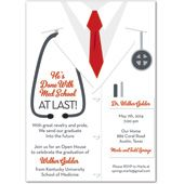 White Coat Male Doctor Invitations MyExpression
