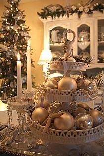 cupcake stand christmas decoration