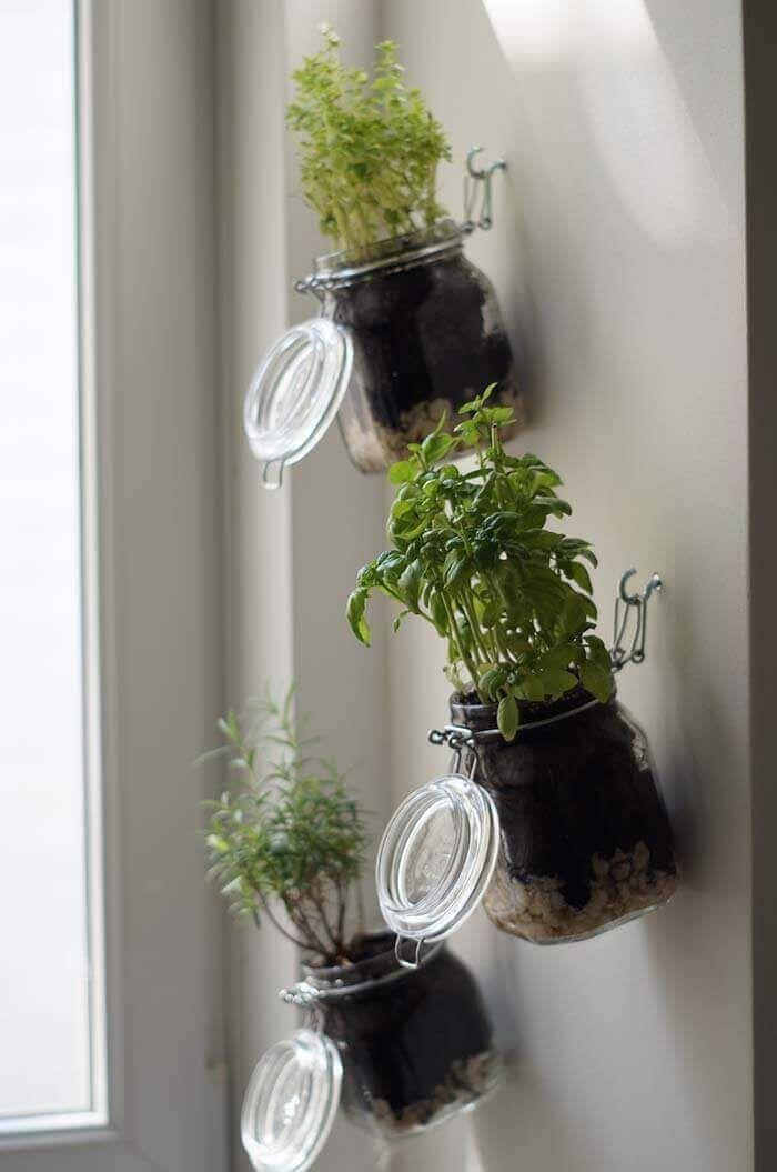 26 DIY Vertikale Kräutergartenkonzepte