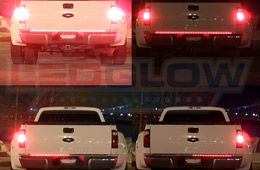 LEDGlow's 49 Inch Compact Truck Red LED Tailgate Light Bar is slim, yet durable and brings added safety to your vehicle's tailgate with a red LED light bar that provides highly visible brake, running, hazard, and turn signal light functions.
