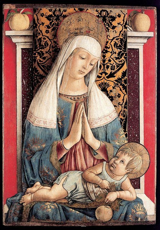 Carlo Crivelli (1435-1495) | La Madonna di Poggio Bretta è un dipinto a tempera e oro su tavola, 71×50cm, attribuita a Carlo Crivelli, databile al 1472 circa e conservato nel Museo diocesano di Ascoli Piceno.