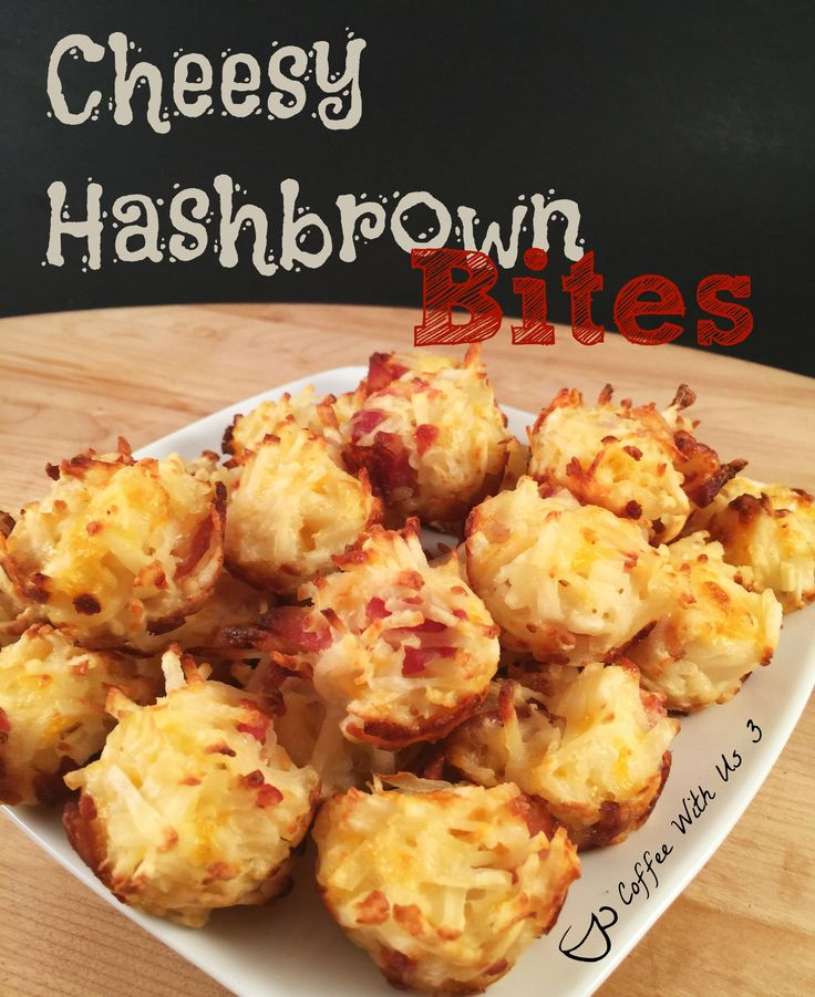 Cheesy Hashbrown Bites are a wonderful appetizer with cheese, bacon and potatoes. Great for an appetizer dinner or a party. Cheesy Hashbrown Bites - Coffee With Us 3 http://www.coffeewithus3.com/cheesy-hashbrown-bites/