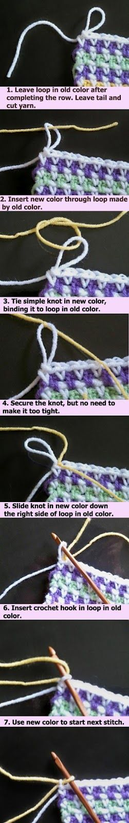 Crochet Join Yarn Invisibly - Picture Tutorial