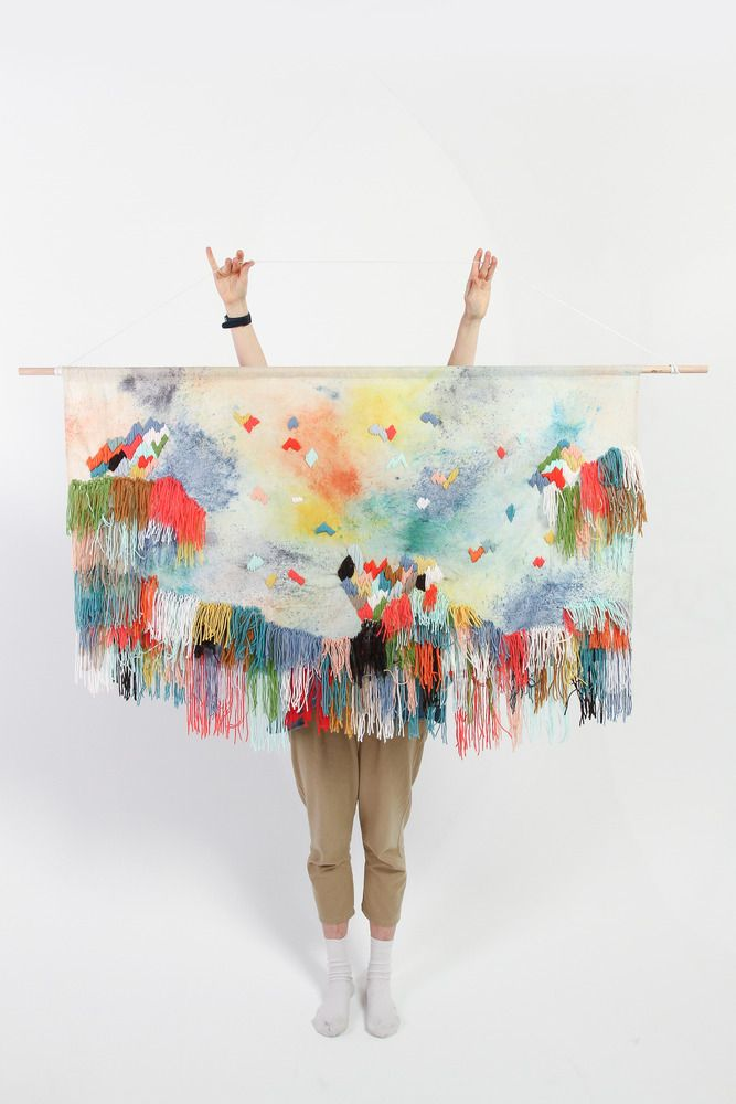 textile wall hanging created by Bendigo-based artist Andrea Shaw exclusively for Dagmar Rousset.