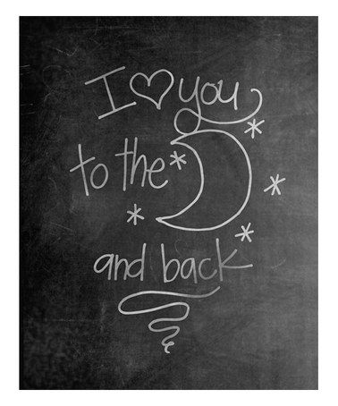 Look at this #zulilyfind! 'To the Moon and Back' Chalkboard Print by Doodli-Do's #zulilyfinds