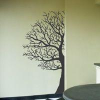 corner winter tree decal