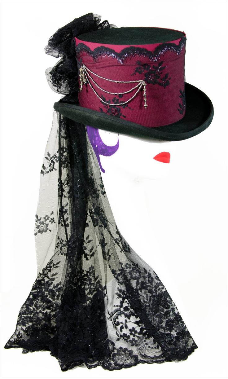 Ladies Top Hat Burlesque style. £84.99, via Etsy.