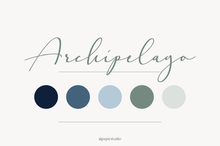 Archipelago color palette // blue hues, summer, beach, maritime, wedding, branding