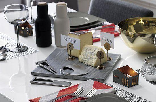 Slate Cheese Board + Modern Cheese Cutters