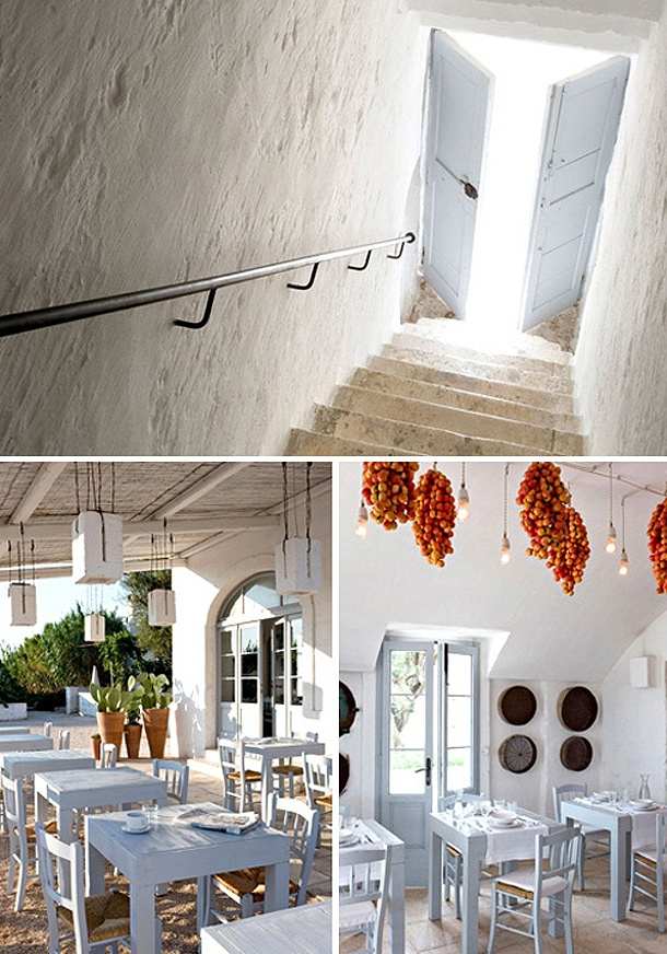 Masseria Cimino is an 18th century farmhouse that has been transformed in a stylish boutique hotel in the Puglia region in Italy.