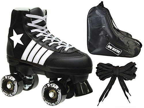 Special Offers - New Epic Black Star Indoor / Outdoor Classic High-Top Quad Roller Skate 3 Pc. Bundle (Kids 2) - In stock & Free Shipping. You can save more money! Check It (May 08 2016 at 10:14AM) >> http://rcairplaneusa.net/new-epic-black-star-indoor-outdoor-classic-high-top-quad-roller-skate-3-pc-bundle-kids-2/