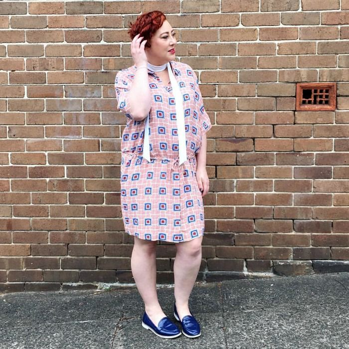 wearing Motto neck tie, Country Road shirt dress, Next loafers | Spring Fling Style File