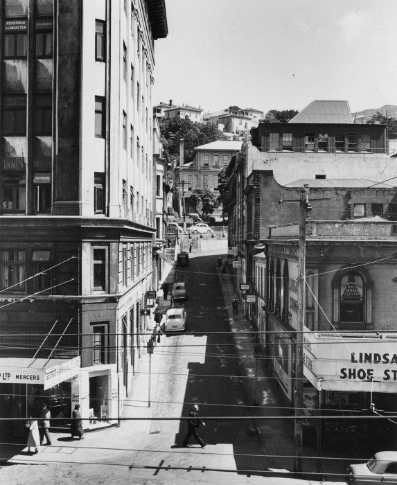 Looking up Woodward Street from Lambton Quay, Wellington