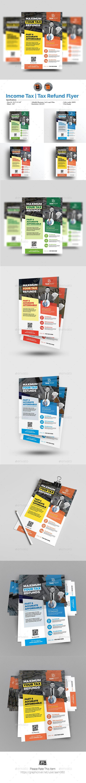 Tax Refund Flyer Template Vector EPS, AI Illustrator