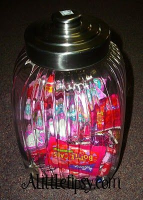 """5 min. a day scripture treat. Add a tag: Scripture Power can't be beat and learning the gospel is really neat so here's a treat for you to eat when your daily scripture reading is complete!  If filled with starburst add """"Chews"""": wisely. Giving this as a baptism gift."""