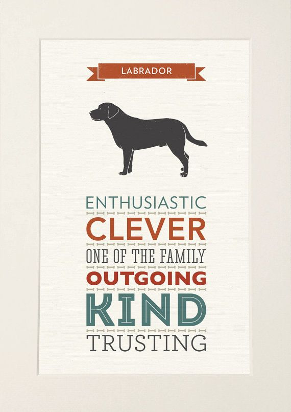 SALE 20% OFF Labrador Dog Breed Traits by WellBredDesign on Etsy