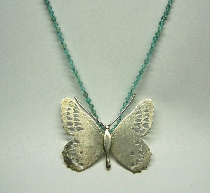 Butterfly-necklace, Handmade by Nicole Bolze Originals