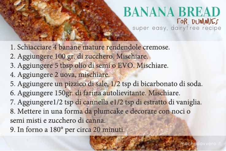 Banana Bread ricetta super facile e vegana