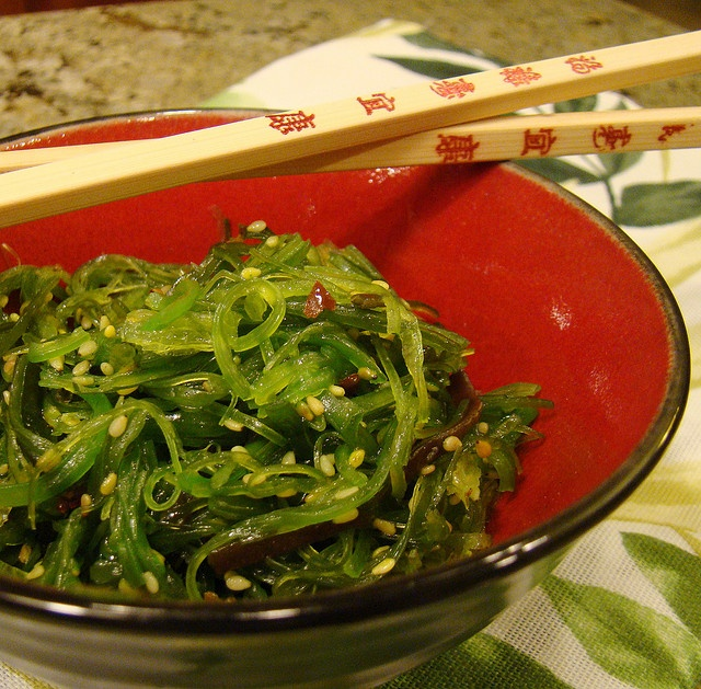 Seaweed Salad. One of my favorite foods.  https://www.facebook.com/pages/Healthy-Vibrant-You/381747648567846