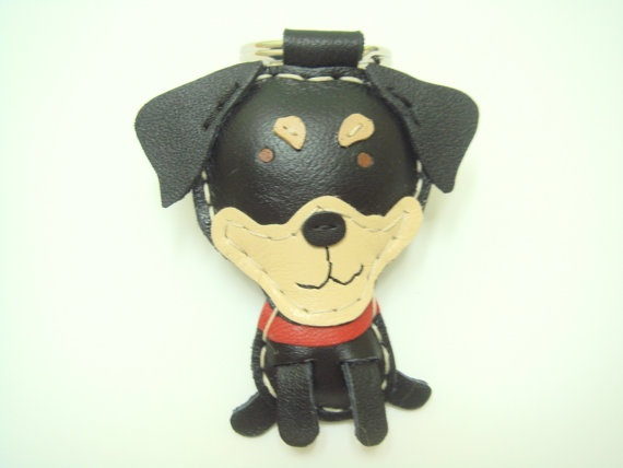 Tom the Taiwan Country Dog Leather Keychain  by leatherprince, $20.90