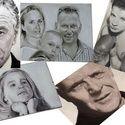 Portré karton, Képzőművészet, Festmény, Festmény vegyes technika, Akril, Fotó, grafika, rajz, illusztráció, Festészet, Meska