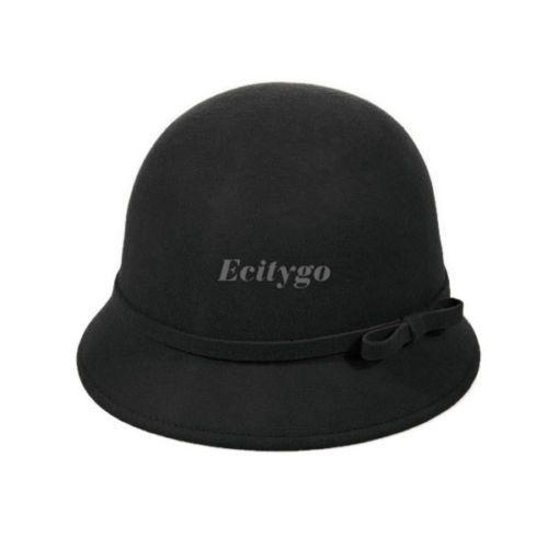 2014 sping fashion vintage vrouwen dames fedora wol cloche hoed pet emmer koepel boog hoofddeksels 6 kleuren( in van op Aliexpress.com