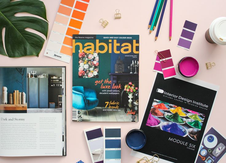 Become a colour pro with Module 6 of our online Interior Design Diploma course!  Image by #IDIstudent Nikki Astwood from Revised Edition - Creative Styling for the latest issue of Habitat by Resene! https://goo.gl/3CaxSK  Contact us for more info www.theinteriordesigninstitute.com/landing